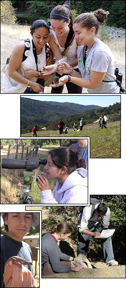 Students exploring California's biodiversity